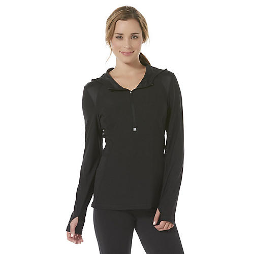 Impact by Jillian Michaels Women's Hooded Quarter-Zip Performance Shirt