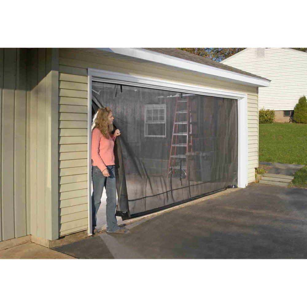 Shelter logic 16 39 x7 39 garage screen kit shop your way for 18 x 8 garage door screen