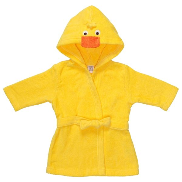 Carters Newborn Unisex Hooded Robe Yellow