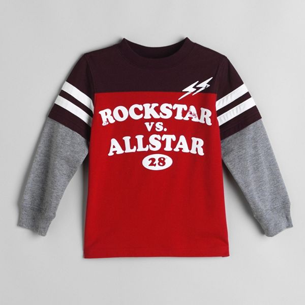 Carters Toddler Boys Rockstar Vs Allstar Graphic Tee