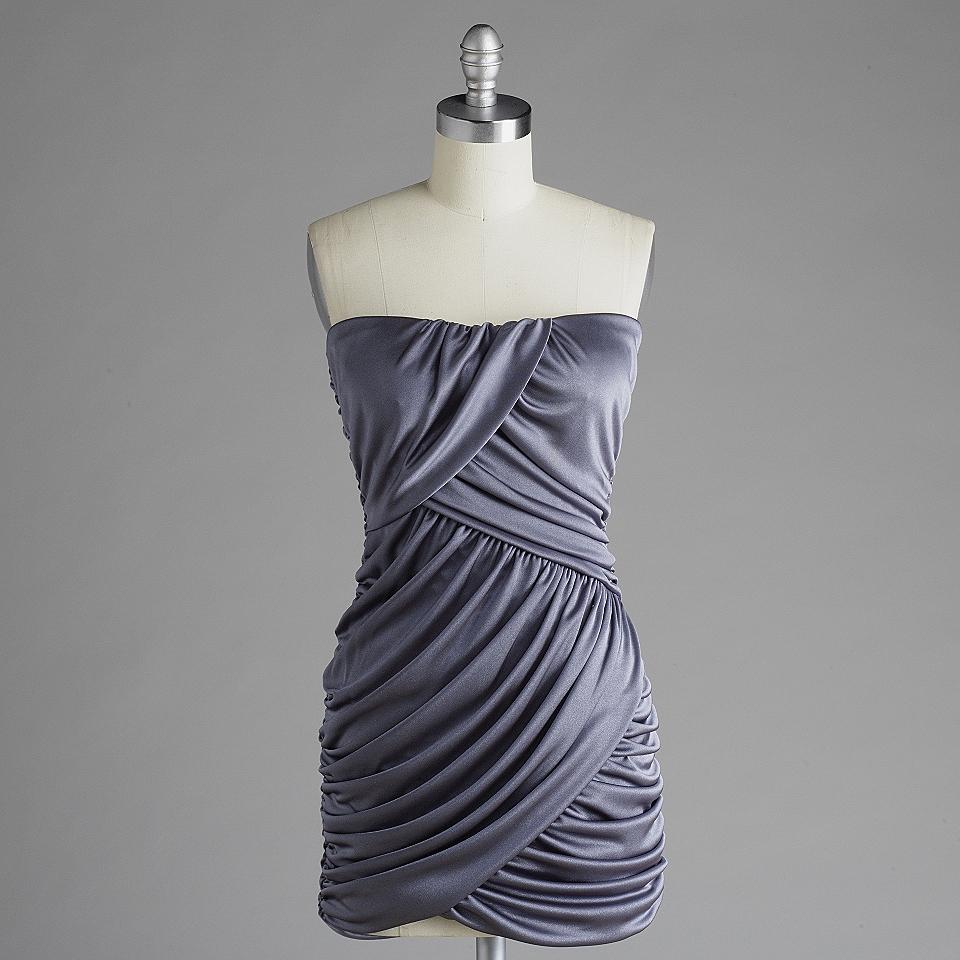 Strapless Ruched Tube Dress Speechless Clothing Juniors Dresses