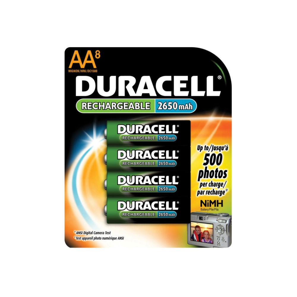 Duracell Rechargeable AA Battery 8 pack