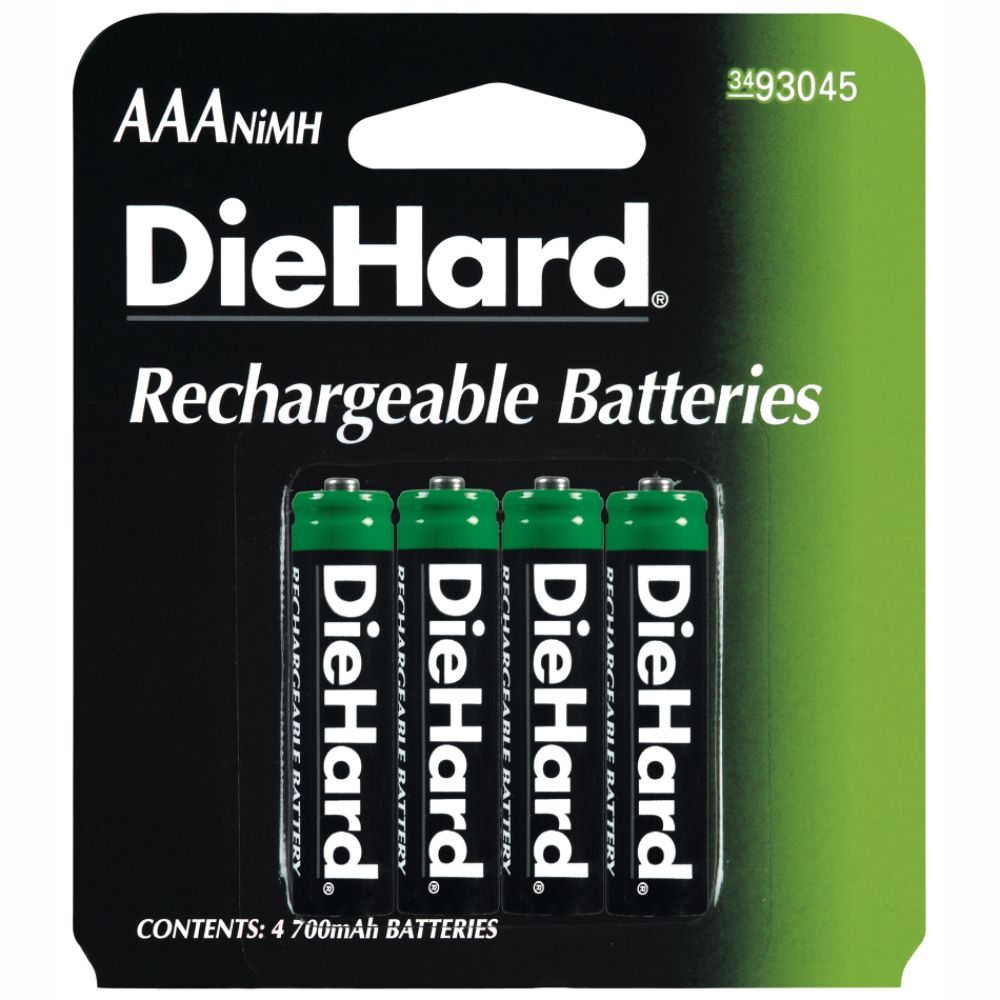 DieHard Rechargeable AAA Battery 4 pack