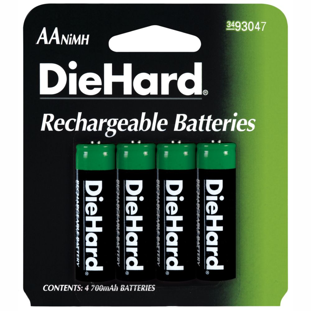 DieHard Rechargeable AA Battery 4 pack