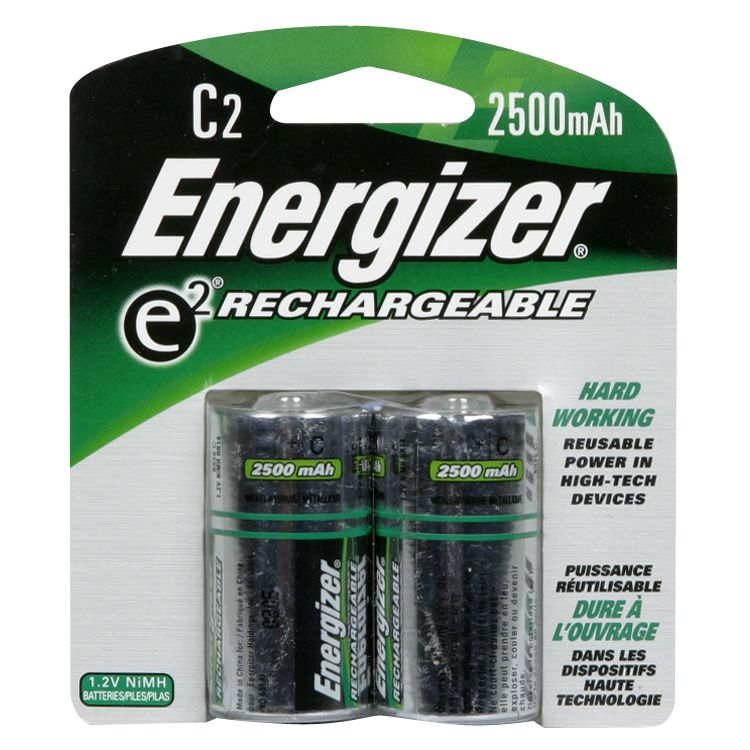 Energizer E2 Rechargeable C Battery 2 pack