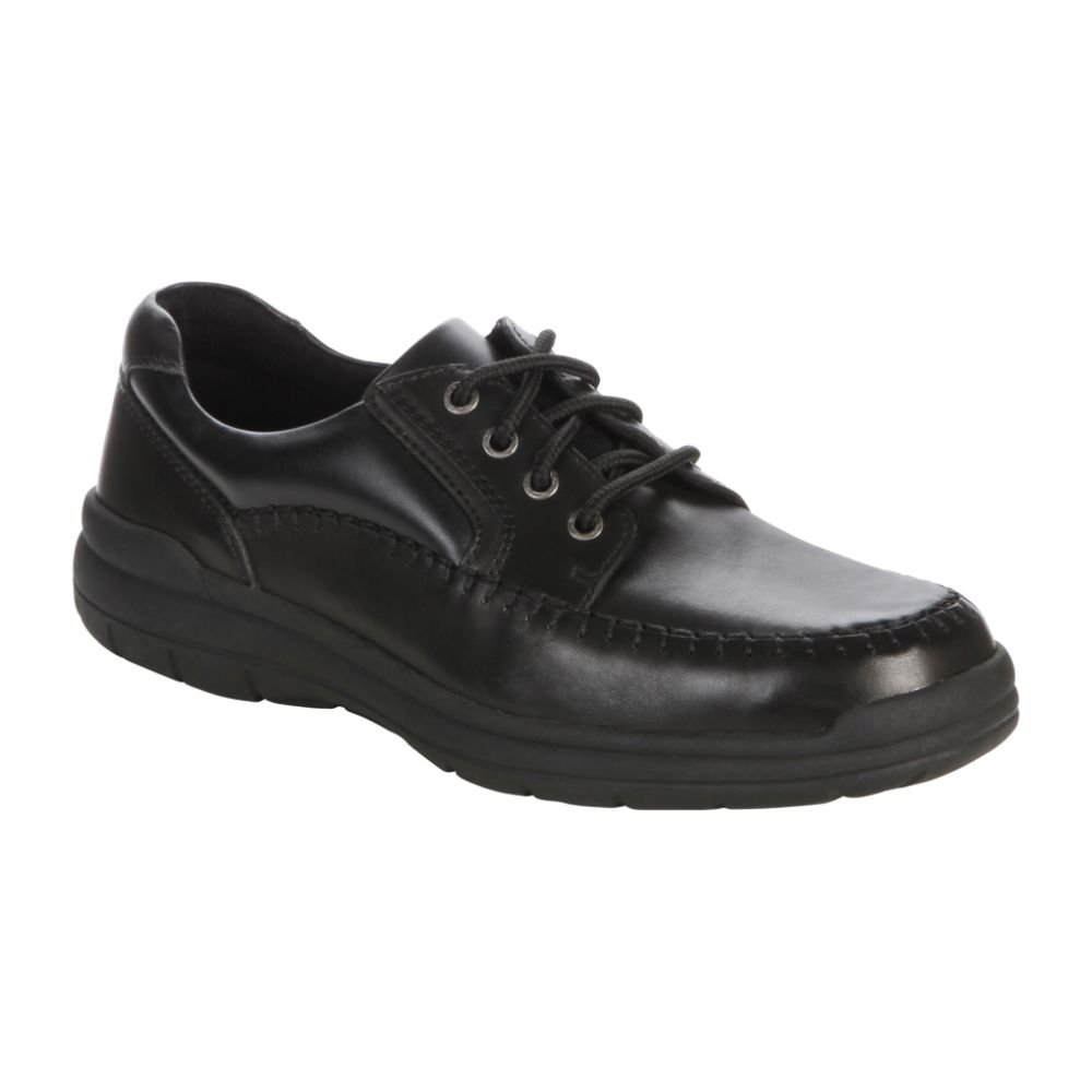 Thom McAn Men's Norris Oxford Walking Shoe Wide Width - Black $ 34.99