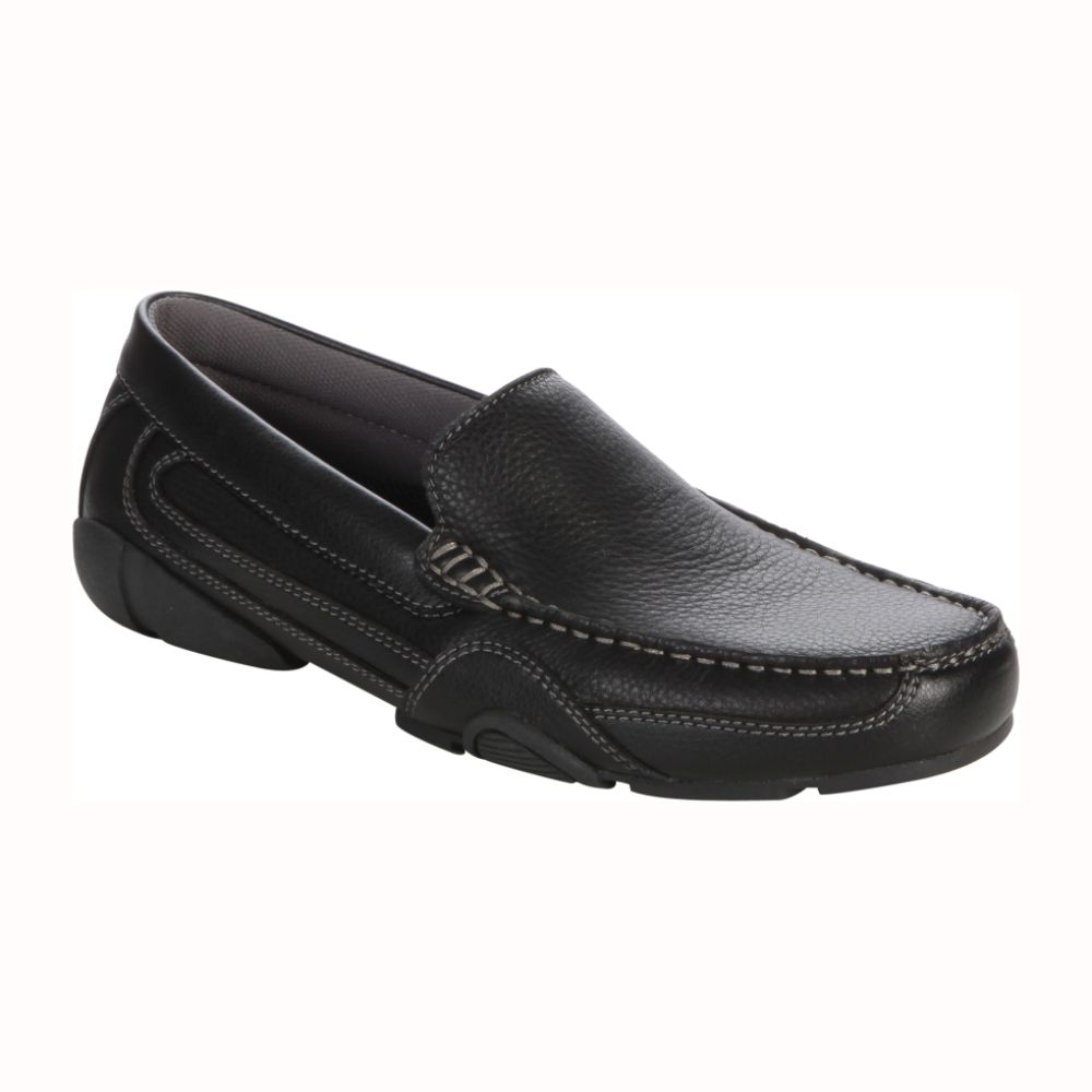 Thom McAn Men's Kendrick Driving Moc - Black $ 34.99