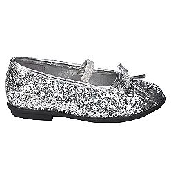 Toddler Girls' Allondra Glitter Ballet Flat - Silver- WonderKids-Shoes-Kids-Toddlers