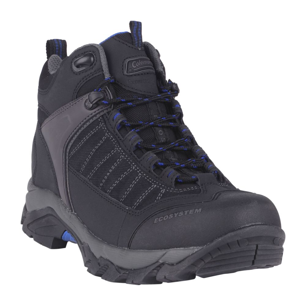 Coleman Men's Karter Leather Mid High Hiker Boot - Black $ 29.99