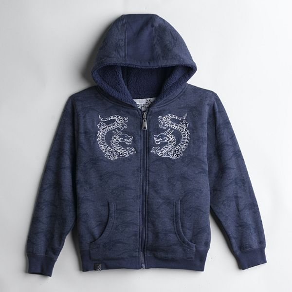 Top Heavy Boys 4 7 Fleece Lined Hoodie With Dragon Embroidery
