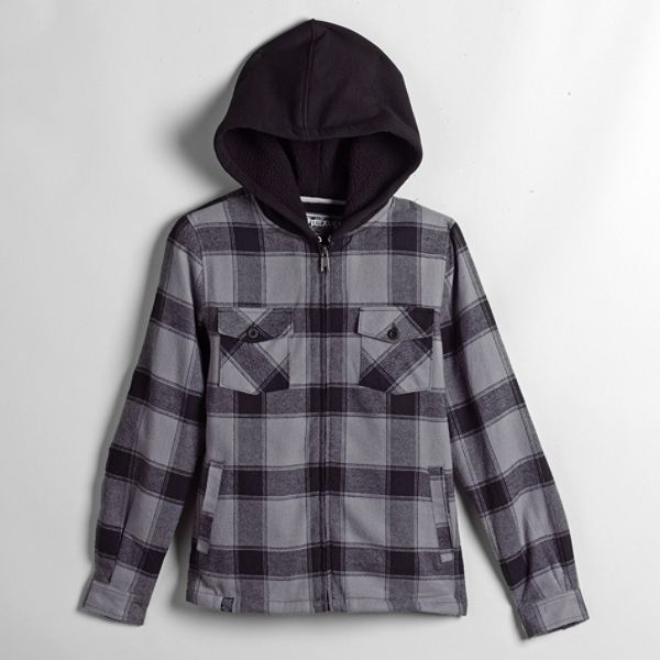 Top Heavy Boys 8 20 Dugger Flannel Shirt Jacket