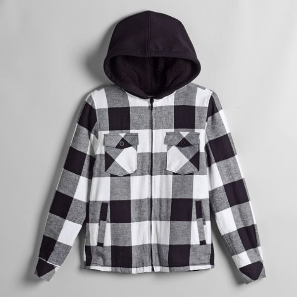 Top Heavy Boys 8 20 Flannel Lined Fleece With Sherpa Spiker