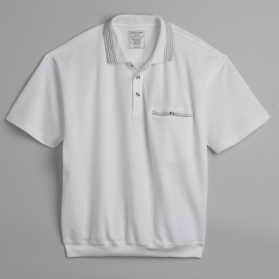 Mens Banded Bottom Polo Shirt David Taylor Clothing Mens