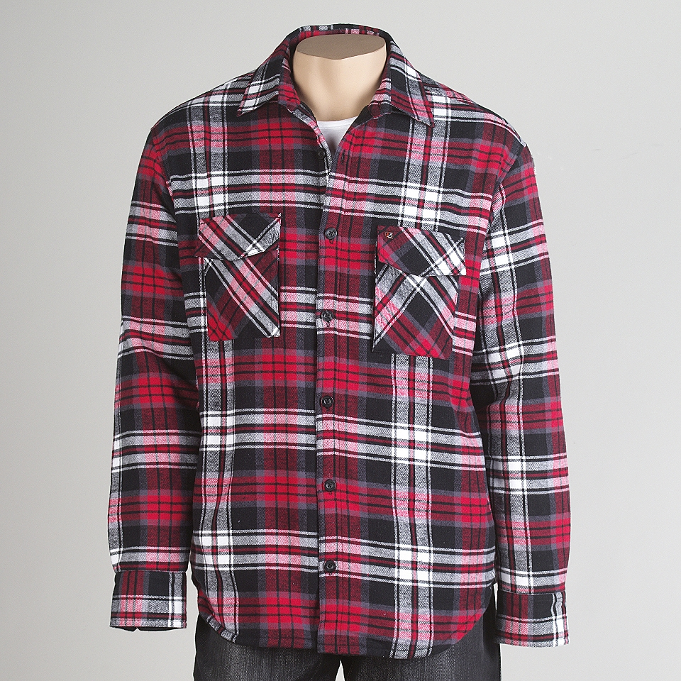 Young mens heavy weight fleece lined flannel shirt amplify for Fleece lined flannel shirt