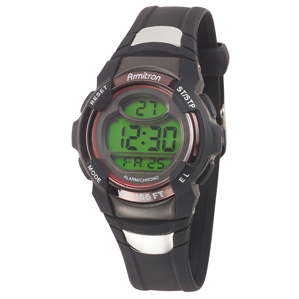 Armitron Mens 408095sil Chronograph Black