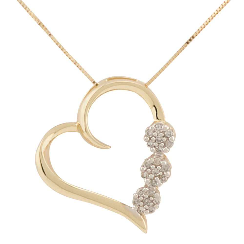 "diamond pendant necklace. ""Heart/Diamond Necklace"""
