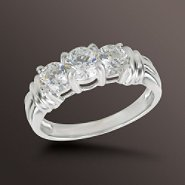 1 cttw Round Diamond 3-Stone Anniversary Ring at Sears.com