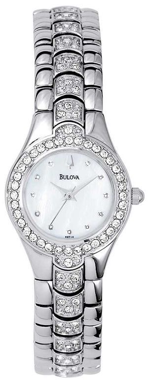 Ladies White Tone Watch