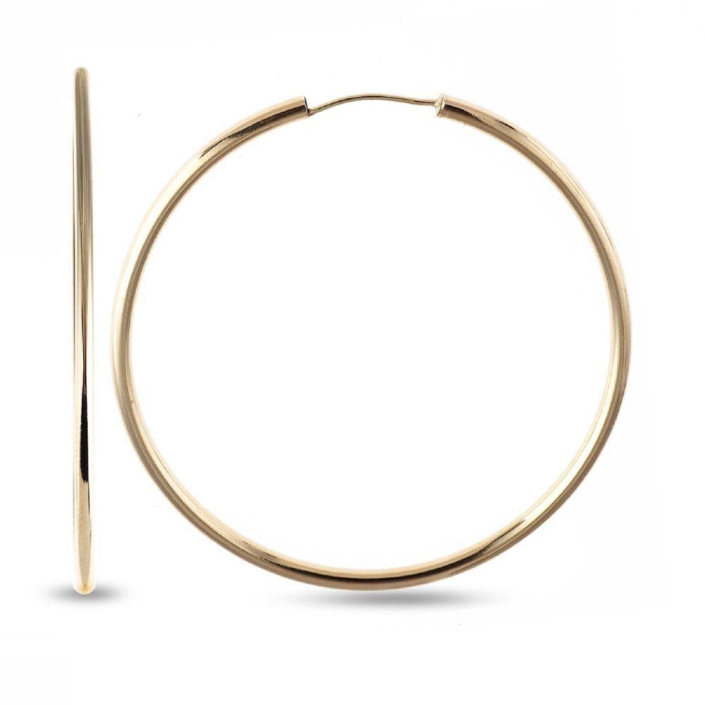SELECT JEWELRY INC 10K Yellow Gold Polished Endless Hoop Earrings SELECT JEWELRY INC