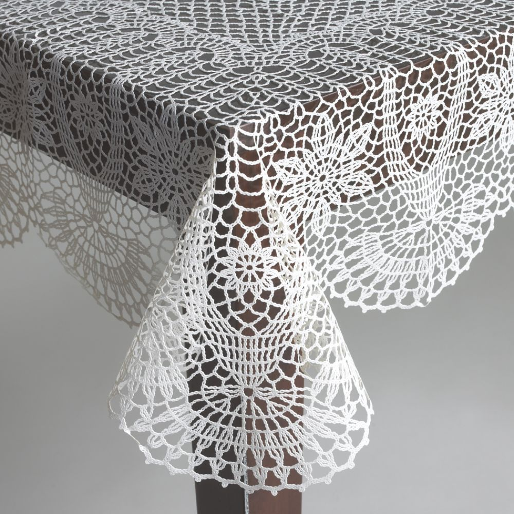 Country Living Crochet Vinyl Tablecloth $ 14.99