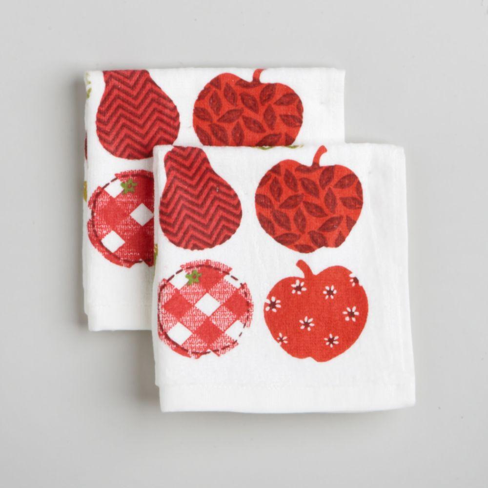 Paula Deen Signature 2-Pack Apple Dishcloths