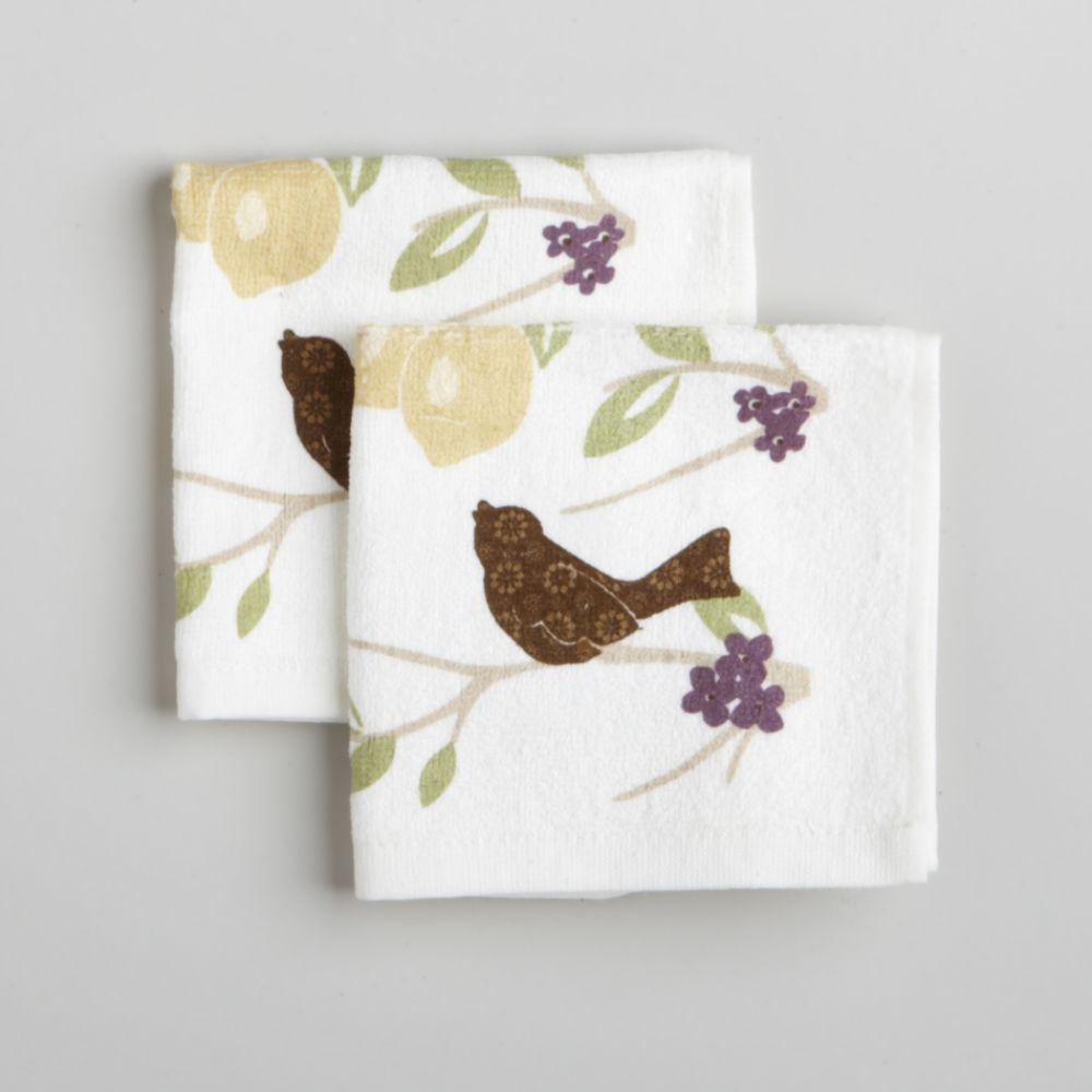 Paula Deen Signature 2-Pack Fruit & Birds Dishcloths