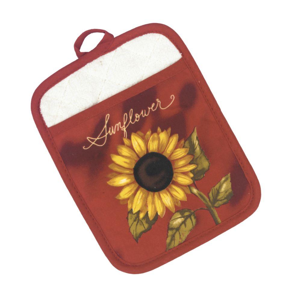 Essential Home Sunflower Basket Pot Mitt