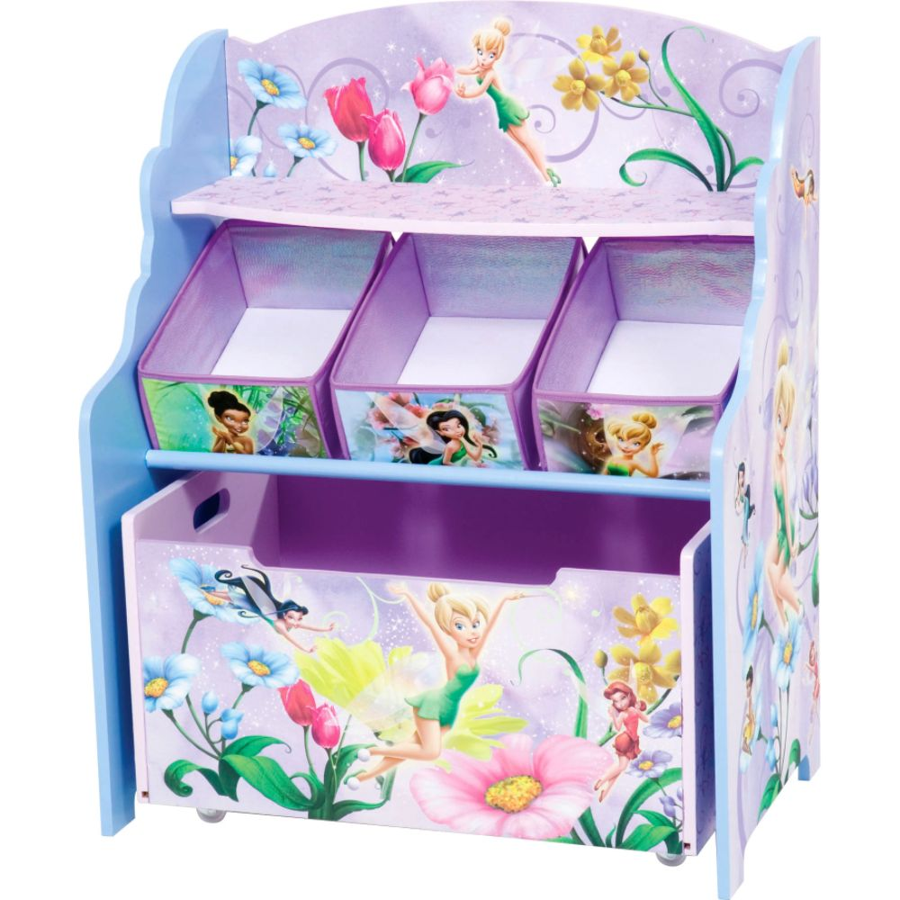 Disney Fairies 3 Tier Toy Organizer with Rollout Toy box