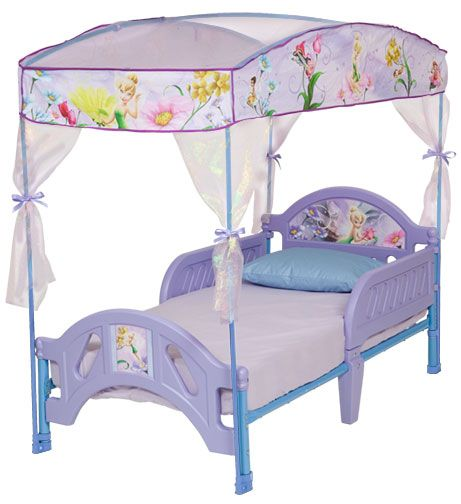 Delta Childrens Disney Fairies Toddler                            Bed with Canopy