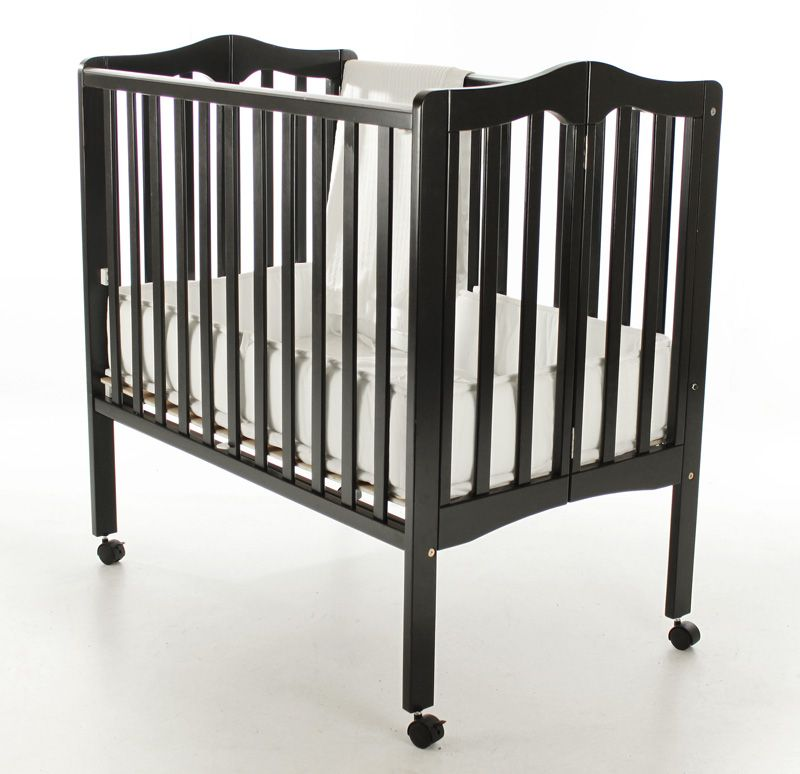Furniture kids furniture crib dream on me black crib for Double decker crib