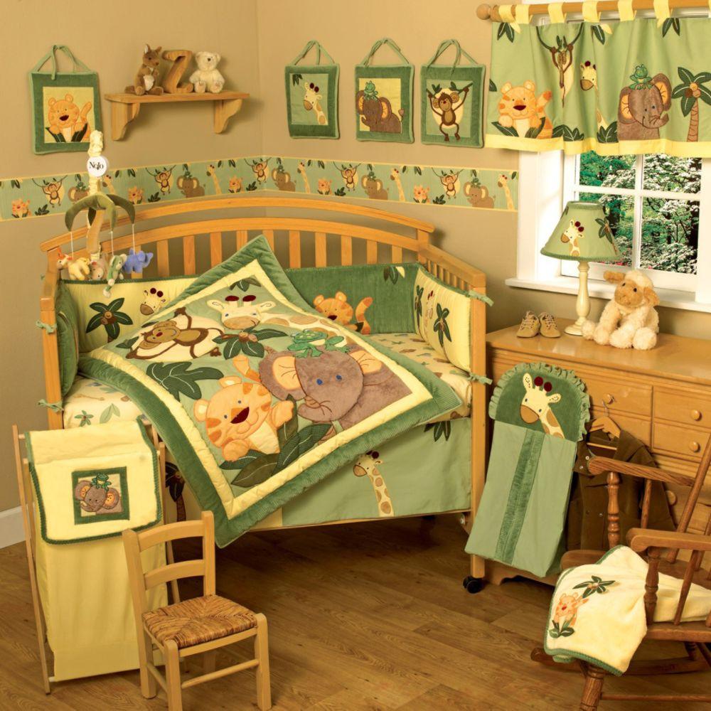 Vintage Nojo Jungle Babies Coral Fleece W Applique Blanket