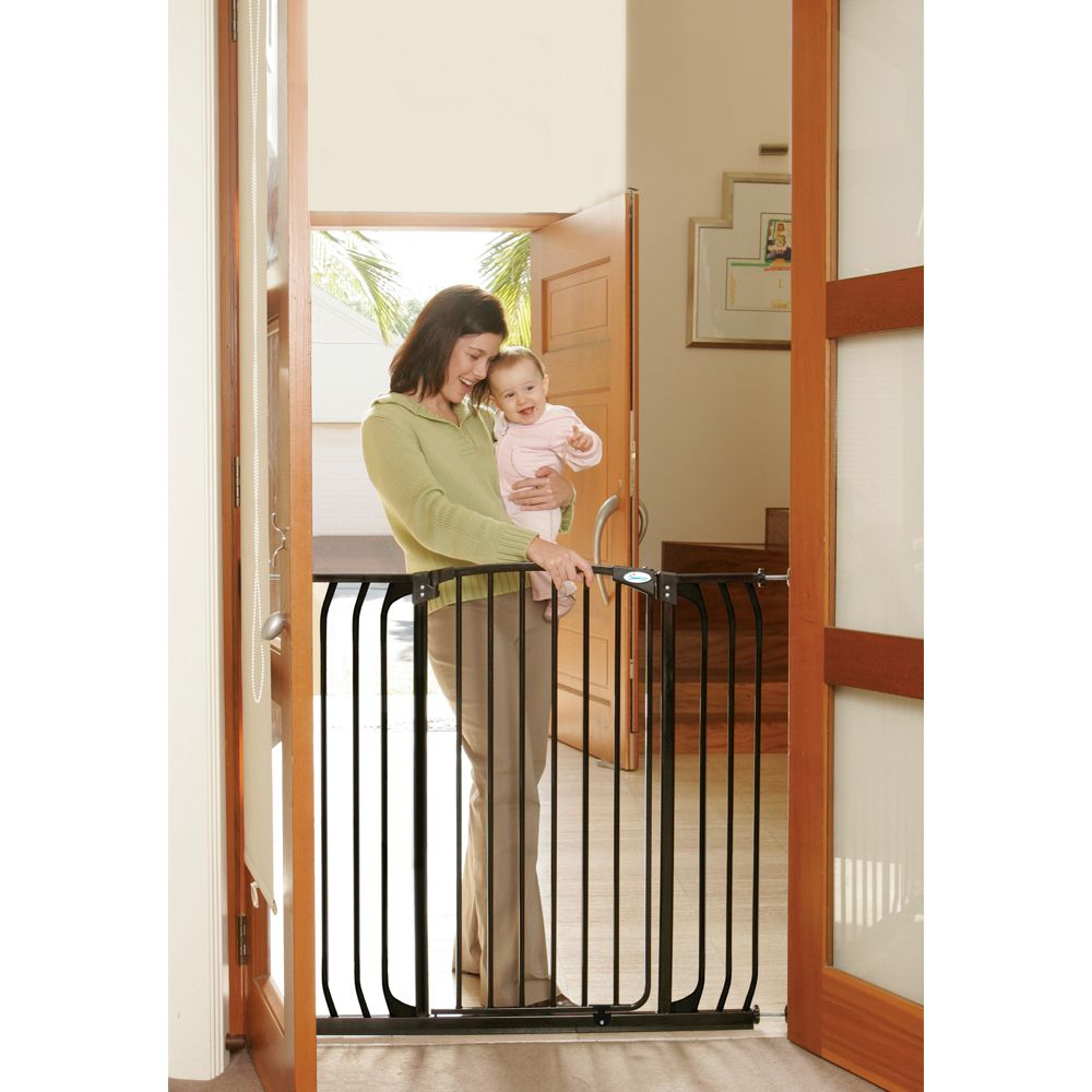 Extra Tall Hallway Gate with Extensions/Black