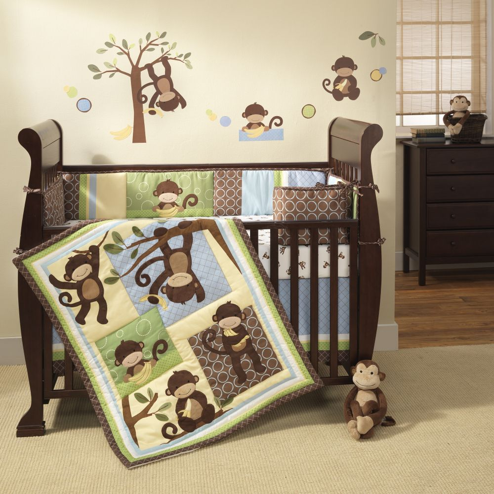 Bassinet Bedding Walmart on Lambs   Ivy 4 Pc M Is For Monkey Crib Bedding Set By