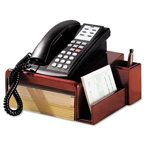 Rolodex Wood Tones Phone Center Desk Stand $ 29.54