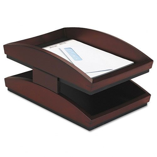 Rolodex Two-Tier Wood Desk Tray, Letter, Mahogany $ 85.84