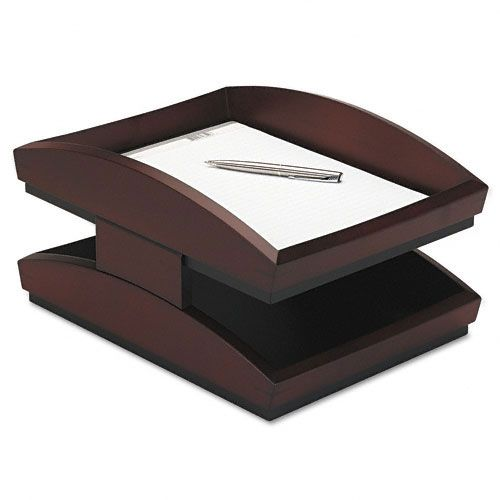 Rolodex Two-Tier Wood Desk Tray, Legal, Mahogany $ 106.00