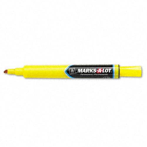 Marks A Lot Permanent Marker Large Chisel Tip Yellow