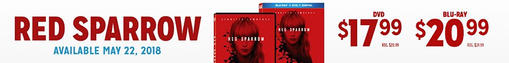 Red Sparrow available 5/22 on DVD & Blu-ray