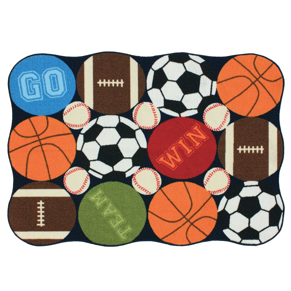 Kids sports rug