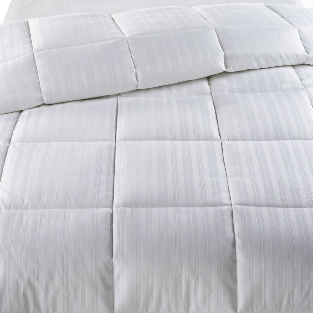Amazing Cannon thread count Dobby Stripe Down Alternative Comforter
