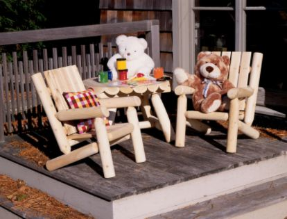 Cedar Looks  Junior Log Patio Chair