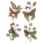4 pc. Botanical Metal Wall Decor