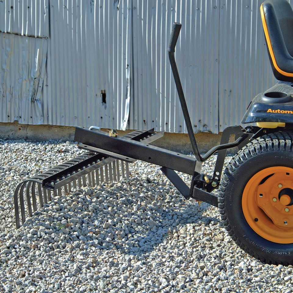 48 in landscape rake agri fab lawn amp garden tractor attachments