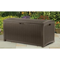 73 gallon Wicker Resin Deck Box