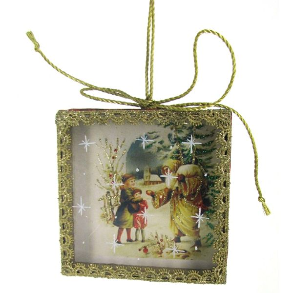 Country Living Vintage Christmas Postcard Ornaments – Children