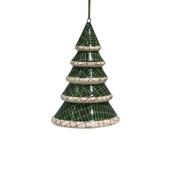 Country Living Vintage Christmas Edge Tree Ornament - White