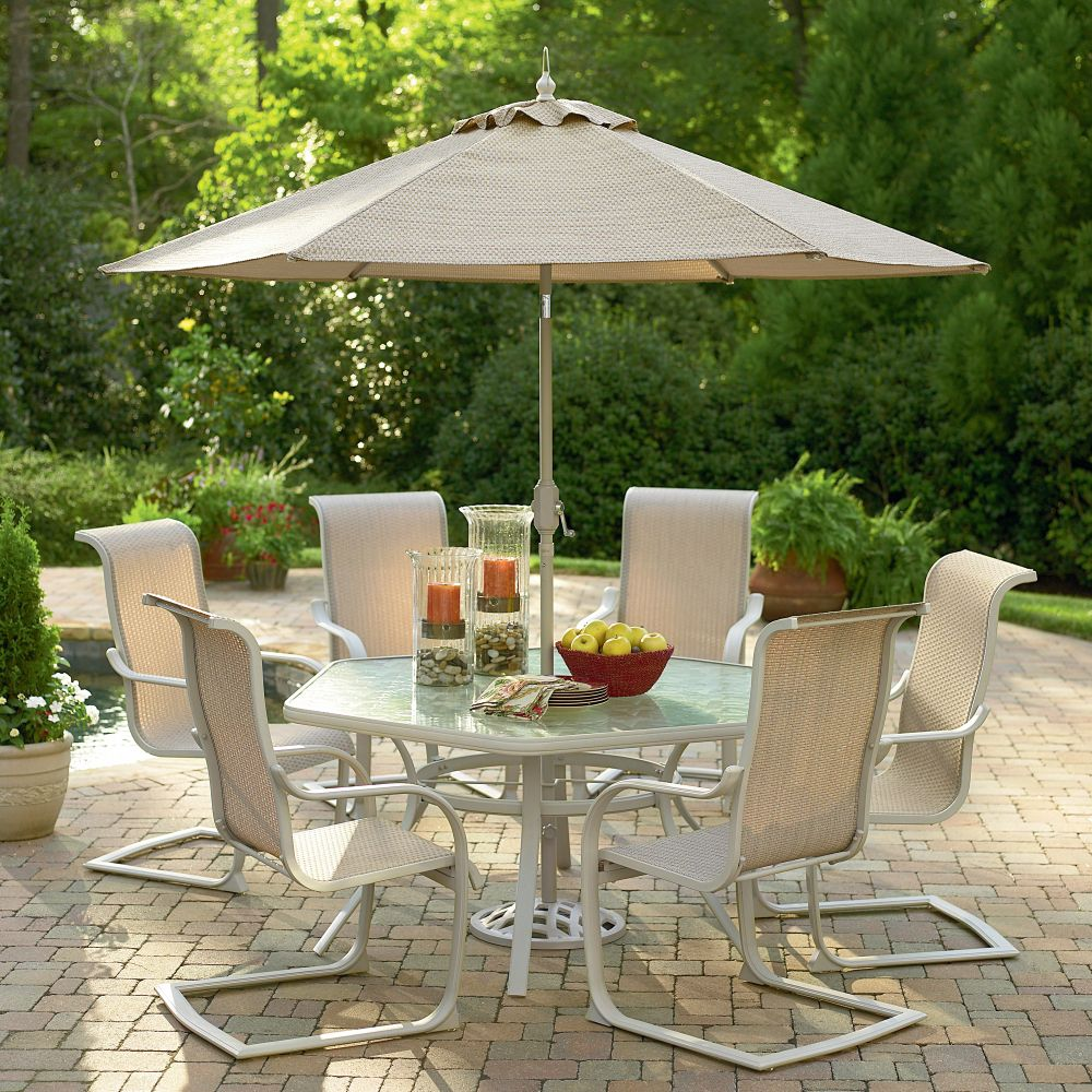 Garden oasis clayton 7 piece patio dining set