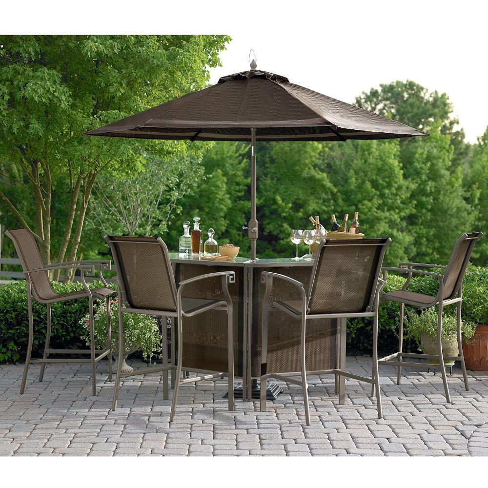 Furniture  Sets on Oasis Alexandria 5 Piece Patio Bar Set Reviews   Mysears Community