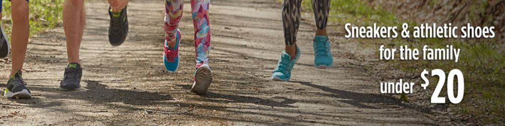 Sneakers & athletic shoes for the family under $20