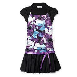 Black,Purple,and Blue dress